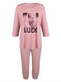 afbeelding Pyjama Simone roze gemêleerd