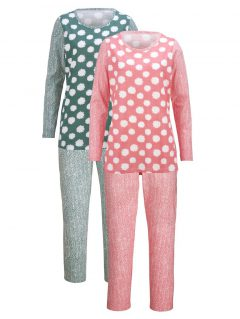 afbeelding Pyjama Simone koraal/gletsjerblauw/ecru