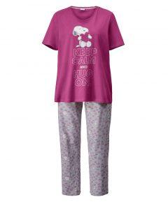 afbeelding Pyjama pink/lichtgrijs gemêleerd