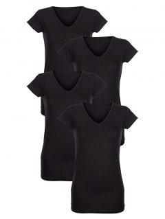 afbeelding Hemdjes Simone 4 x zwart