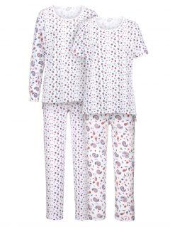 afbeelding Pyjama Simone wit/rood/blauw