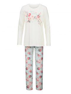 afbeelding Pyjama Simone ecru/mint/koraal