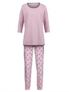 afbeelding Pyjama Simone rozenhout/prune/ecru