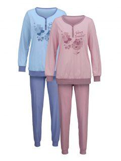 afbeelding Pyjama Harmony rozenhout/jeansblauw