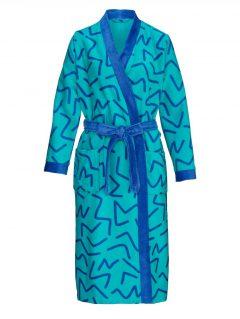 afbeelding Ochtendjas Harmony smaragdgroen/royal blue