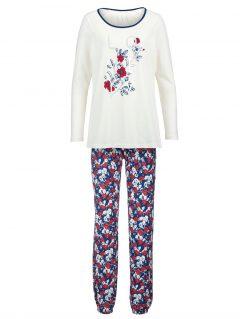 afbeelding Pyjama Simone ecru/rood/marine