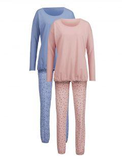 afbeelding Pyjama Harmony oudroze/jeansblauw