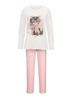 afbeelding Pyjama Simone ecru/roze