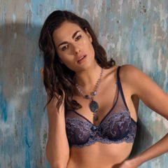 afbeelding Blauwe soft cup bh Platinum Fashion Ottanio 0337F