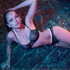 afbeelding Dwars gestreepte Bikini·top·BERENICE·zwart·wit