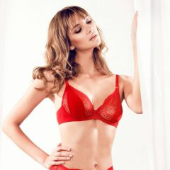 afbeelding Rode·balconette·soft·cup·beugel·bh·Parah·Rosso