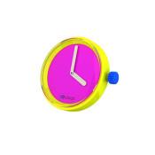 afbeelding O clock klokje fluor roze