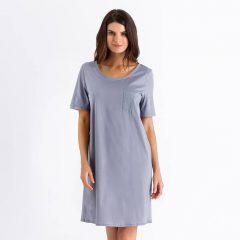 afbeelding Dames·nachtjurk·cotton·de·luxe·grijs