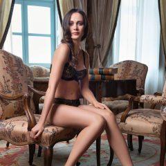 afbeelding SET beugel bh+brasil-Sexy Chantilly-zwart