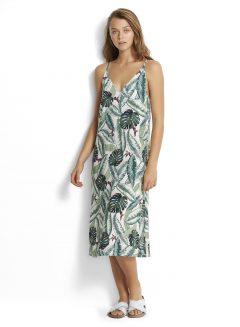 afbeelding Seafolly Palm Beach Dress 53226-DR Moss